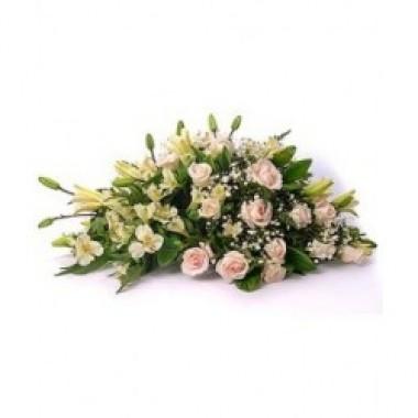 Arreglo de rosas y liliums