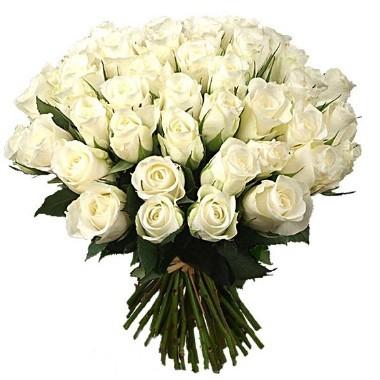 Bouquet de tres docenas de rosas blancas