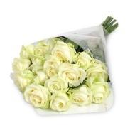 Bouquet de veinte y cuatro rosas blancas